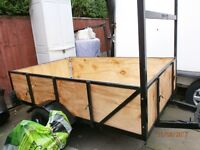 6ft 6in x 4ft TRAILER NEW WOOD NOW VARNISHED WITH YACHT VARNISH