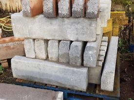 Lintels, Cills, Steps, kerbs, coloured gravel, building additives, pier caps, riven slabs