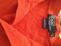 Ralph Lauren orange polo size L