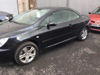 Peugeot 307cc 2.0l 11 months mot in black and immaculate