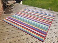 Multicoloured Stripe Ikea Rug