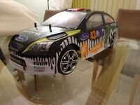 Tamiya 1/10 Scale RC Radio Controlled Car - Ford Focus Ken Block Shell inc 3x Batteries & Upgrades