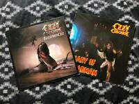 Original press ozzy ozbourne vinyl records