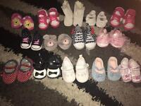 Baby girl shoes 0/3 months & 3/6 months