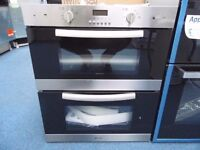 NEW GRADED CAPLE DOUBLE BUILT-UNDER OVEN - STAINLESS STEEL ( 12 MONTHS WARRANTY) REF: 31032