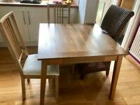 Habitat dining table & 2x Ikea chairs
