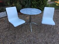 Marks & Spencer marble table and two chairs