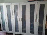 White IKEA Wardrobes x3 sale due to moving home. Perfect condition. Collection required.