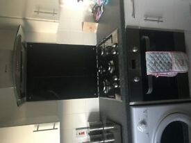 Electric fan oven and gas hob