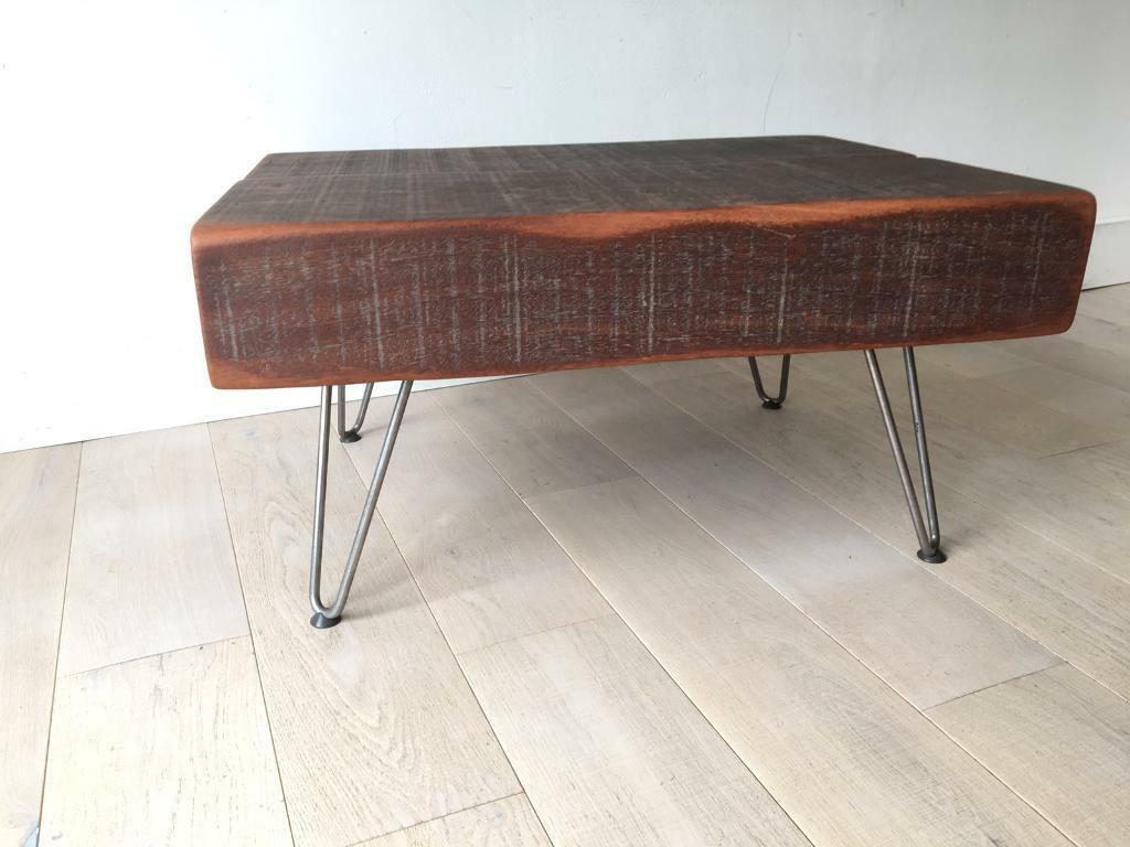 Coffee Table Jarrah Wood Railway Sleepers Rustic