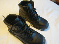 GOLIATH MENS SAFETY BLACK LEATHER STEEL TOE CAP BOOTS SZ 6/39