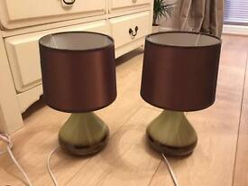 Pair of lamps (£10 only)