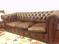 Chesterfield Vintage Brown Leather sofa
