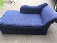 Chaise Longue sofa bed - navy