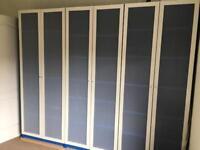 Ikea Billy Bookshelf Blue with White Doors