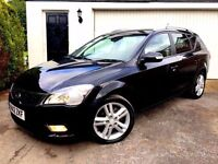 **STUNNING** 2012 KIA CEE'D 4 CRDI 1.6 ESTATE DIESEL MANUAL BLACK LEATHER NAV