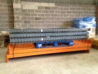 4 bay run of dexion pallet racking 2.4m high ( storage , shelving )