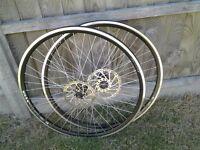 700c Hybrid Wheelset Disc and Rim Brakes NEW