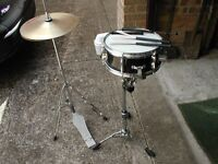 Yamaha Snare Drum, stand & high hat