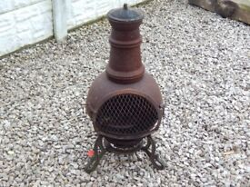 Log burner / chimenea / garden burner / firepit / patio / decking area / garden salvage / cast iron
