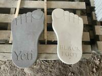 CONCRETE/ STONE BIG FOOT STEPPING STONES/ ORNAMENTS ~ NEW