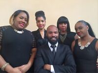 Gospel Singers for Funerals, Cremations and Memorial Services