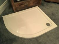 NEW Aurora Stone Resin LH Offset Quadrant Shower Base/Tray 1000 x 800 x 40mm - Victorian Plumbing