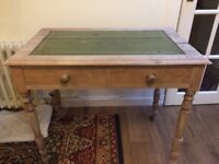 Antique Writing Desk with 2 drawers - attractive but in need of repair