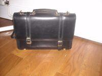 Briefcase Black Leather