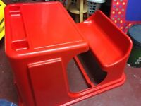 Child's plastic desk £10