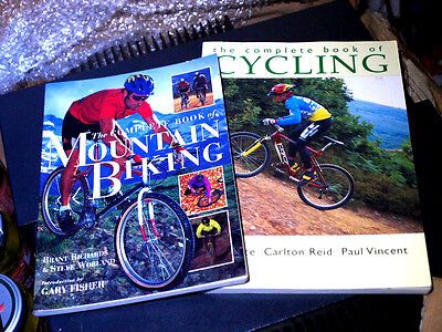 2 x Books Complete Book Of Cycling Mountain Biking Brant Richards Steve Worland for sale  Shipping to South Africa