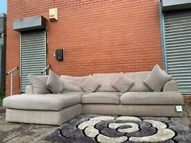 Grey next corner sofa delivery 🚚 suite couch furniture