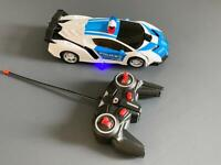 Transformers remote control police car robot like new