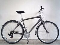 "(2217) 700c 21"" Aluminium GIANT HYBRID BIKE BICYCLE Height: 180-200cm"