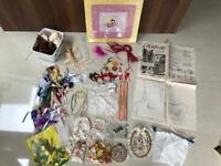 Craft items: Scrapbook Album, Ribbon, felt, lace, shells, cones, beads, sequins etc. Collect Fulham