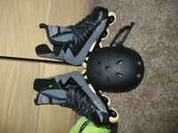 Axiom A4 Inline skates with bag and helmet - size 10.5