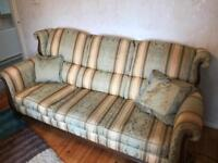 3 Seater Sofa, Arm Chair and Foot stall
