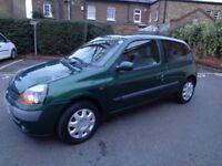 2002 RENAULT CLIO 1.2 , 12 MONTHS MOT, PERFECT CAR.