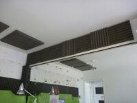 Assorted Acoustic Foam tiles for studio