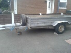 Large galvanised trailer for sale