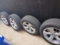 """Bmw 16"""" wheels with tyres"""