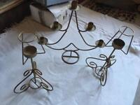 3 candles Metal 3x Candle Stick Holder £5
