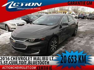 2016 CHEVROLET MALIBU LT 1.5L TURBO AUTO,AIR,TOIT,CUIR,NAVI,BLUE