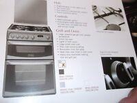 Gas Cooker ((Cannon) black and cream colour,