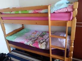 WOODEN PINE BUNK BED FOR SALE