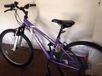 Woman's Mountain Bike with Lock and Helmet