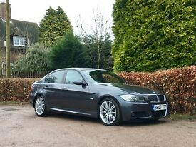 2007 BMW 335D M SPORT SALOON GREY TWIN TURBO NATIONWIDE DELIVER WARRANTY & CARD FACILITY AVAILABLE