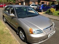 Honda Civic 1700cc Petrol Automatic 4 door saloon 51 Plate 2002 Silver
