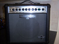 Behringer 30 watt amp with effects pedal in good condition