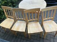Extendable Table and 4 Chairs, Wooden, Pine, Shabby Chic, Apartment, Flat, Dine